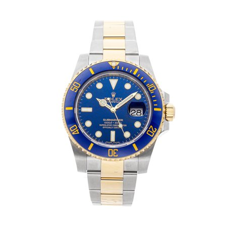 Pre-Owned Rolex Submariner 116613LB Watch (Majority of Time Remaining on Factory Warranty)