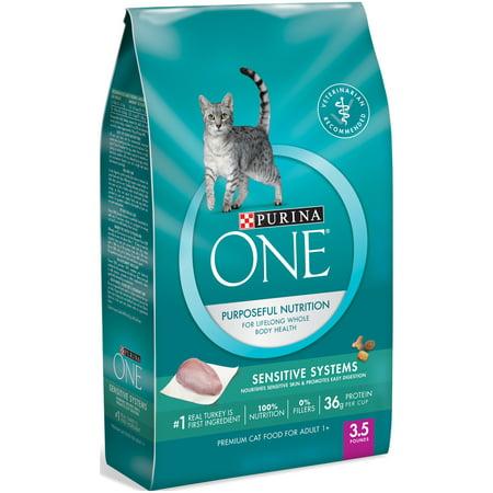 purina one sensitive systems adult premium cat food 3 5 lb bag. Black Bedroom Furniture Sets. Home Design Ideas
