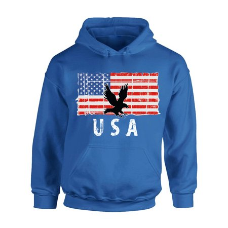 Awkward Styles Eagle USA Hoodie 4th of July Party USA Flag Hooded Sweatshirt for Men 4th Of July Gifts USA Flag Hooded Sweatshirt for Women Proud American Vintage USA Men Women Hooded Sweater (American Eagle Jackets)