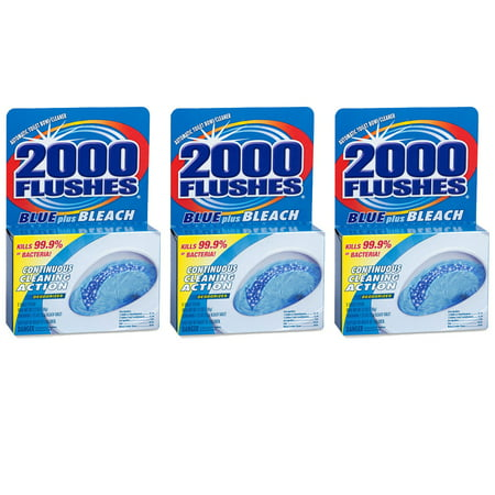 2000 Flushes Continuous Cleaning Action Toilet Bowl Cleaner with Bleach (3 Pack)
