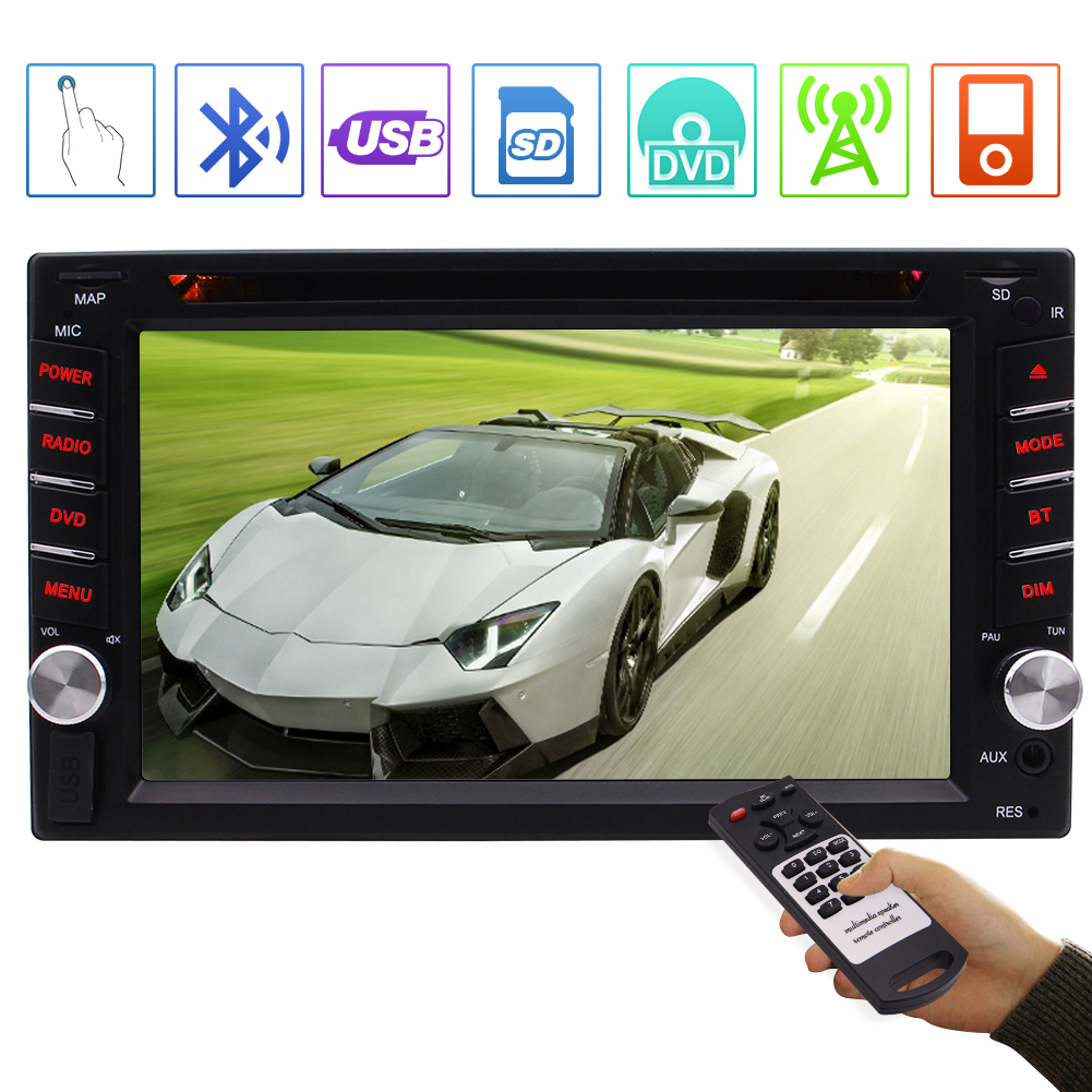 MP5 Player Support GPS Navigation Revering Images//Bluetooth//FM//USB//TF//Remoter Control//Delicate Colorful Buttons Eincar 7 Inch HD 1080P Touch Screen in Dash Car Radio Backup Double Din Car Stereo
