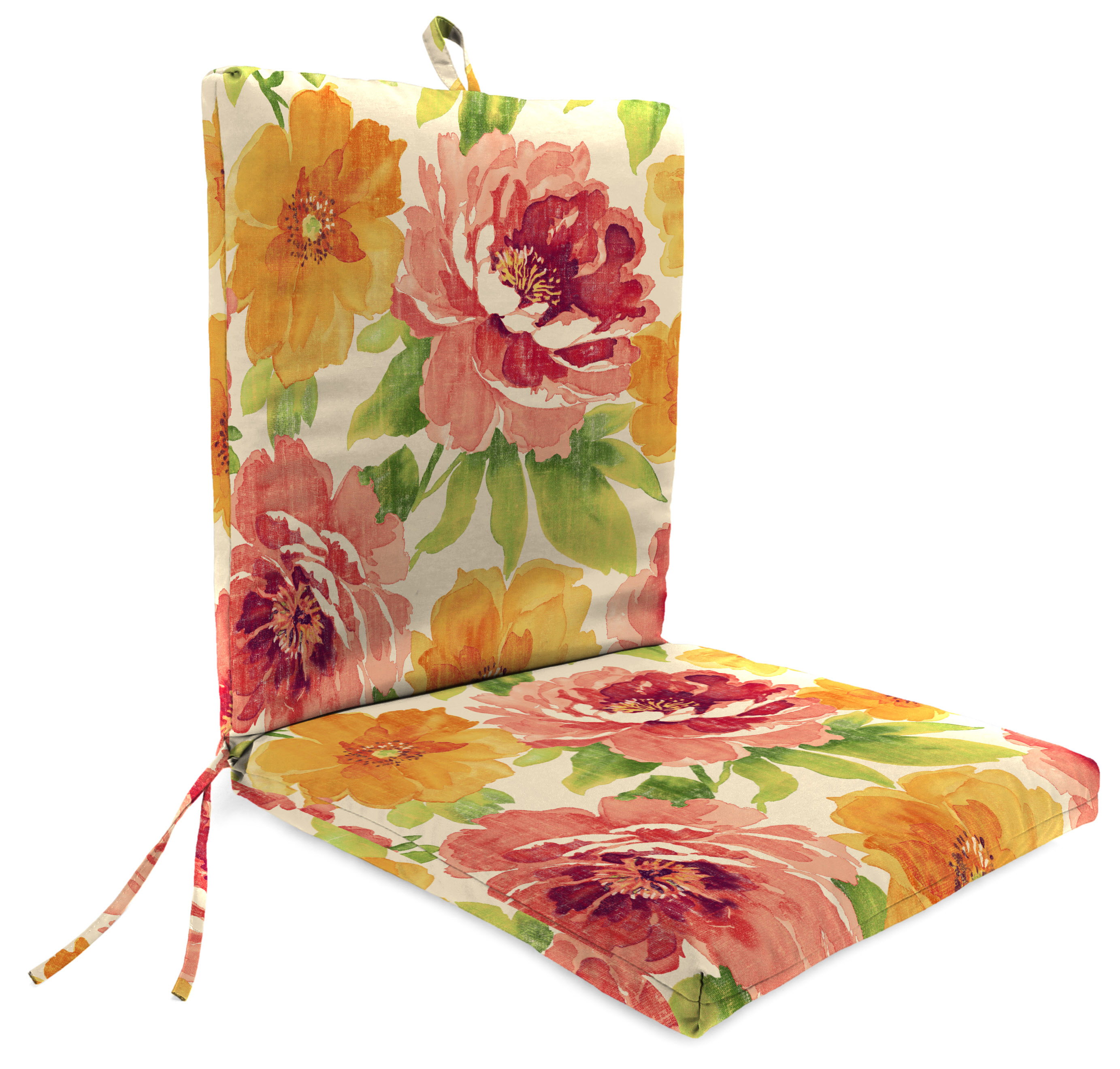 Mainstays Muree Primrose 1 Piece Outdoor Dining Chair Cushion