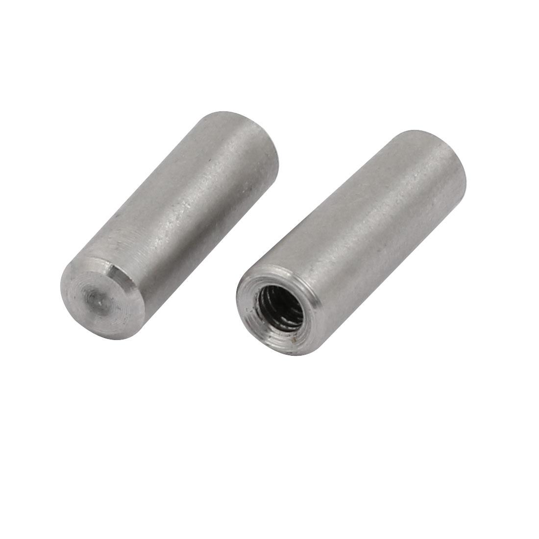 Unique Bargains 2 Pcs GB118 Stainless Steel 5mm Diameter 16mm Length Taper Pin w Internal Thread - image 1 de 1