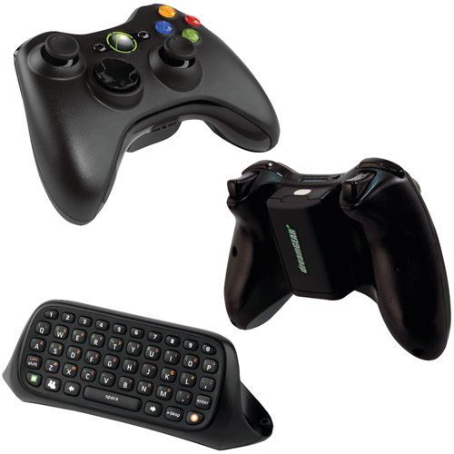 Xbox 360 B4f00014 Wireless Controller With Dg360-279 Power Brick & 11654 Chatpad