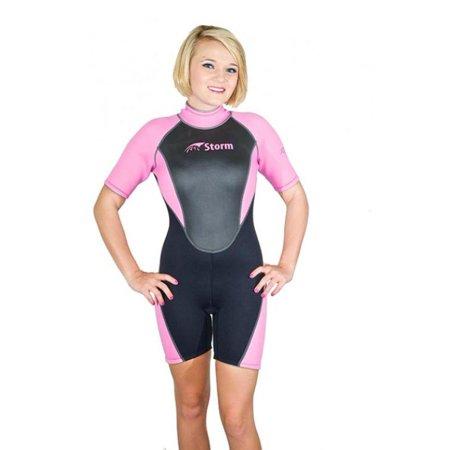 Pink Shorty Wetsuit - Storm Women's 2mm Pink Shorty Snorkel/Scuba/Water Sports Wetsuit