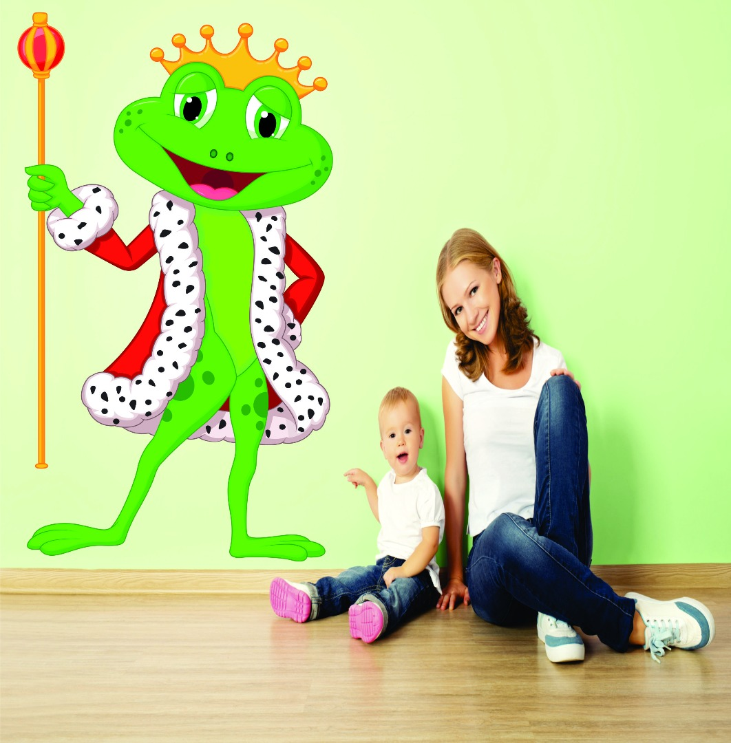 Top Selling Decals - Prices Reduced Wall Decal : Prince King Frog Kids School Daycare Playroom Preschool Mural 12x18 Inches