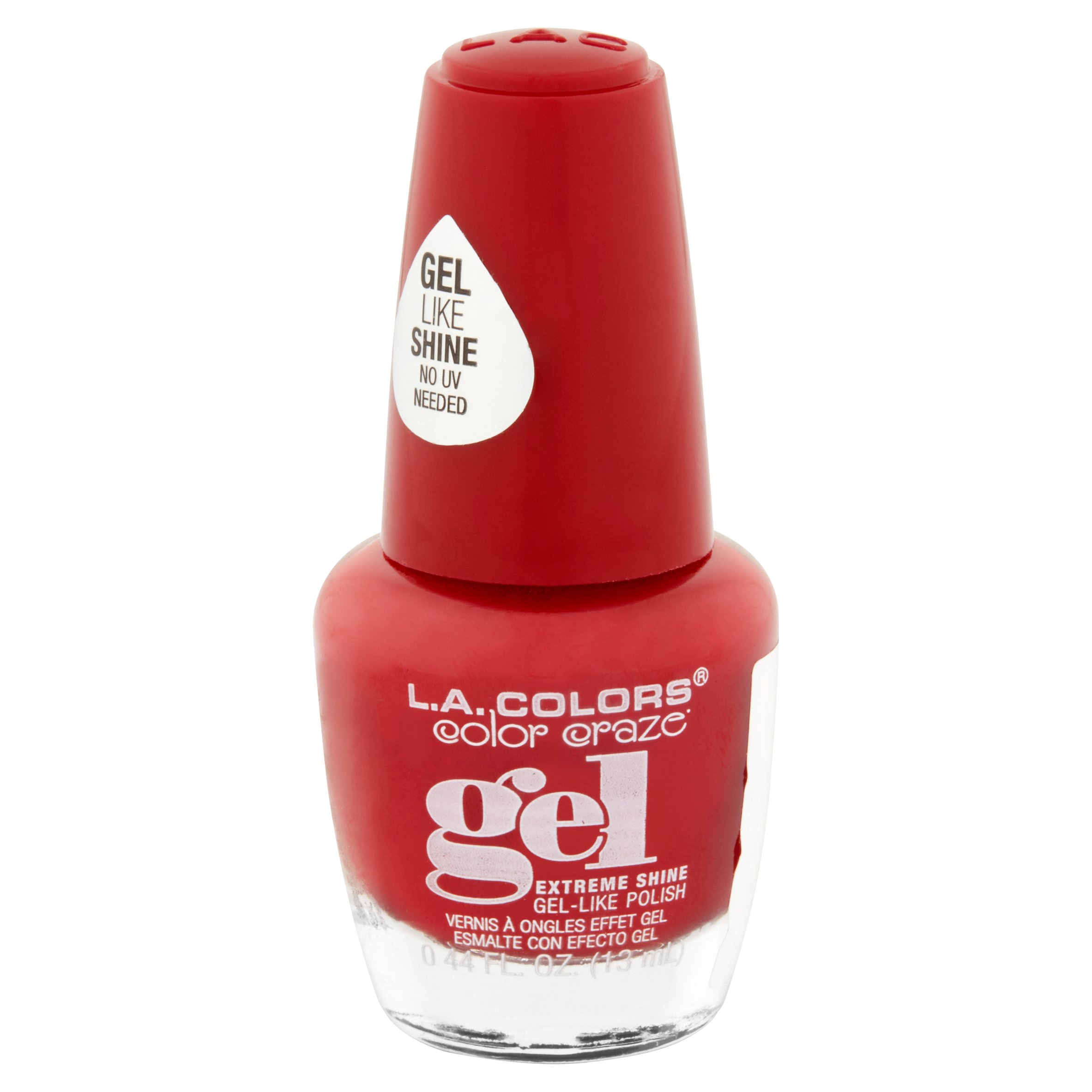 LA Colors Gel Shine Nail Polish, Fierce, 0.44 Oz - Walmart.com