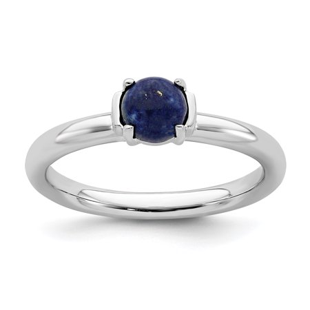 925 Sterling Silver Blue Lapis Band Ring Size 9.00 Stackable Gemstone Natural Stone Lapi Fine Jewelry Ideal Gifts For Women Gift Set From