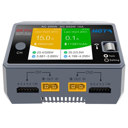 HOTA D6 Pro Smart AC200W DC650W 15A for Lipo NiMH Battery Phone Wireless Charging - image 4 de 4