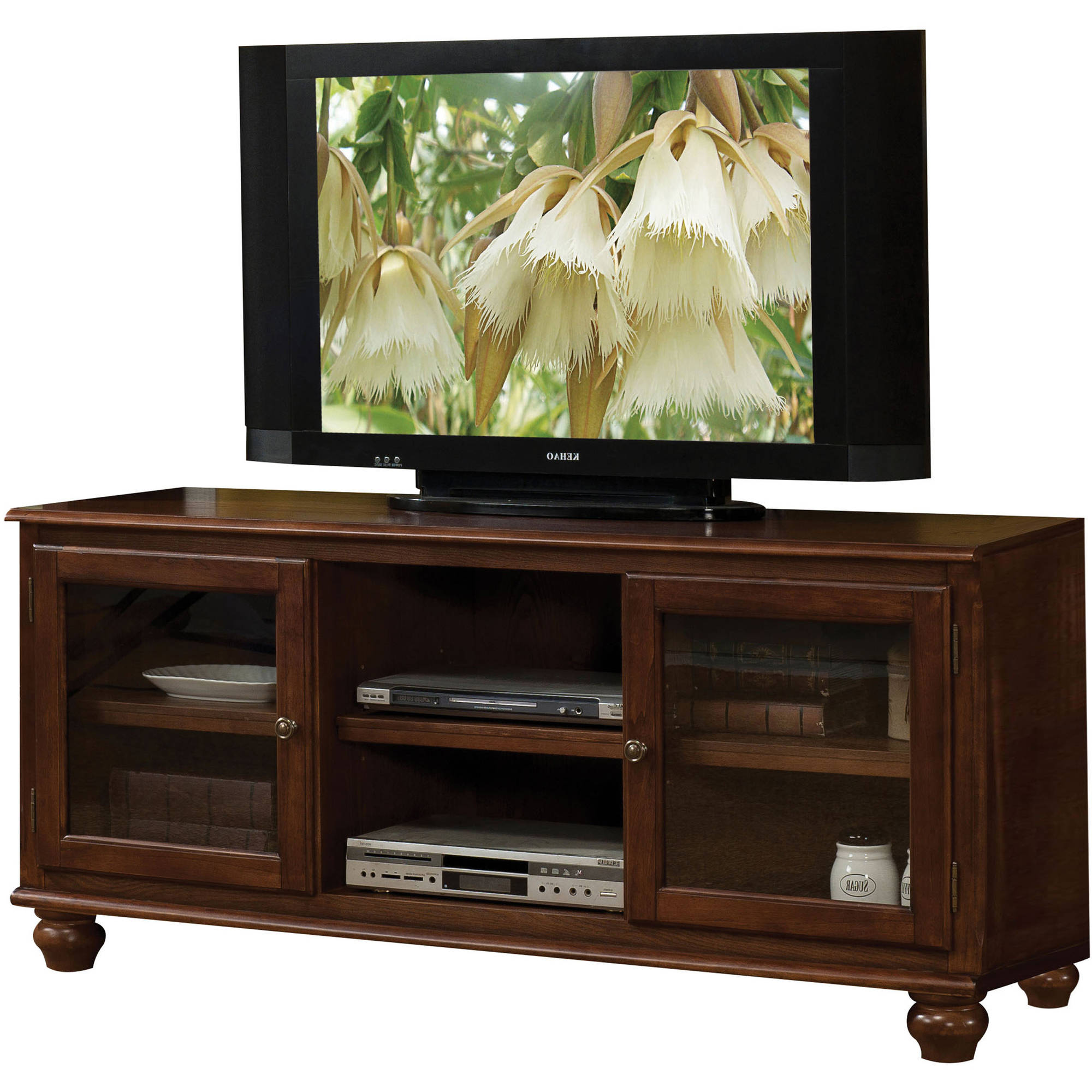 "Acme Dita TV Stand for TVs up to 59"", Walnut"