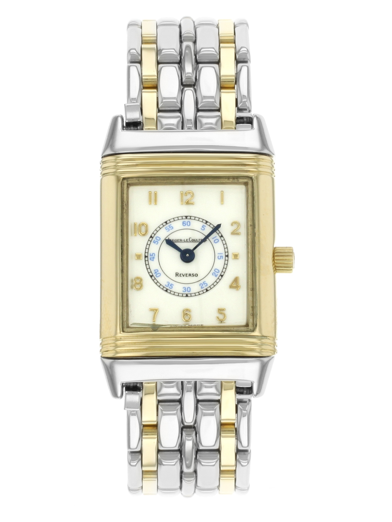 Jaeger-Lecoultre Reverso Steel 18K Yellow Gold Cream Dial Quartz Watch  260.5.08