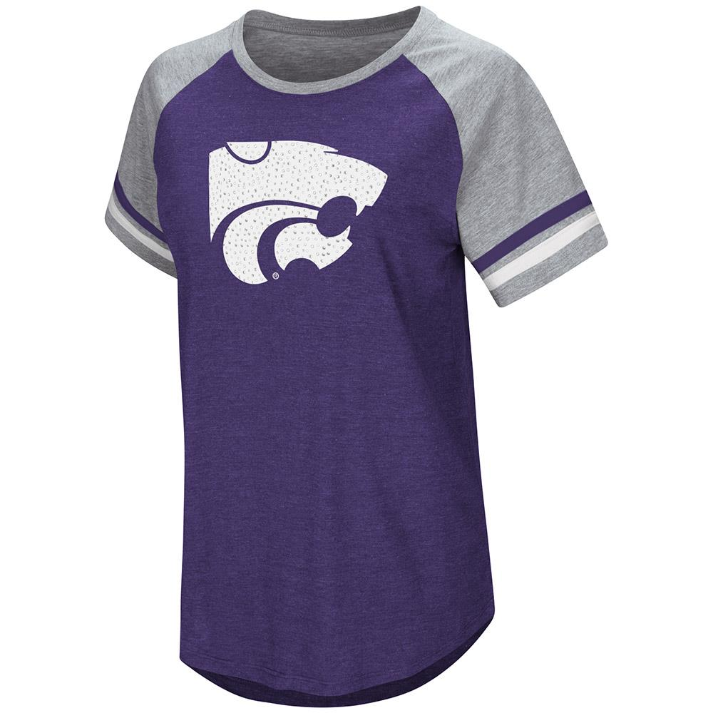 Womens Kansas State Wildcats Short Sleeve Tee Shirt - S