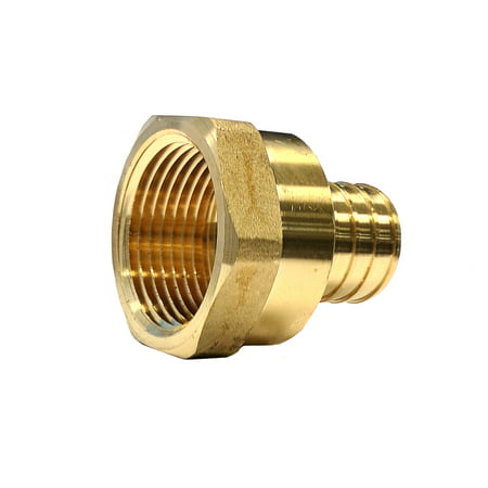 Fpt Reducing Tee Fitting (Libra Supply 3/4 inch Pex to 1/2 inch FPT Lead Free PEX Copper Female Adapter, Barb x FIP, (Pack of 10 pcs, Click in for more size options), 3/4'' to 1/2'', 3/4-inch to 1/2-inch Pipe Fitting)