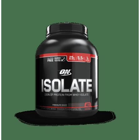Optimum Nutrition Isolate Whey Protein Powder, Chocolate Shake, 25g Protein, 3 Lb ()