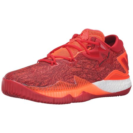 Adidas Men's Crazylight Boost Low 2016 Solar Red / Light Scarlet Infrared Ankle-High Nylon Basketball Shoe -