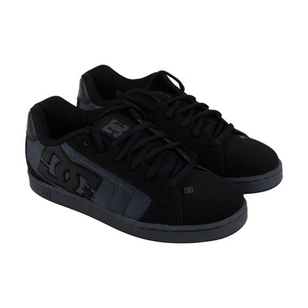 - DC Net Se Mens Black Leather Sneakers Lace Up Skate Shoes