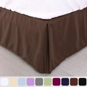 Pleated Bed Skirt Classic Tailored Hotel Quality 14 Inch Drop- Twin