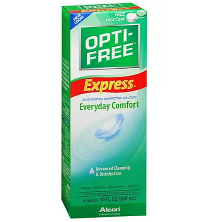 OPTI-FREE EXPRESS Everyday Comfort, Advanced Cleaning & Disinfection 10 oz (Pack of 6)
