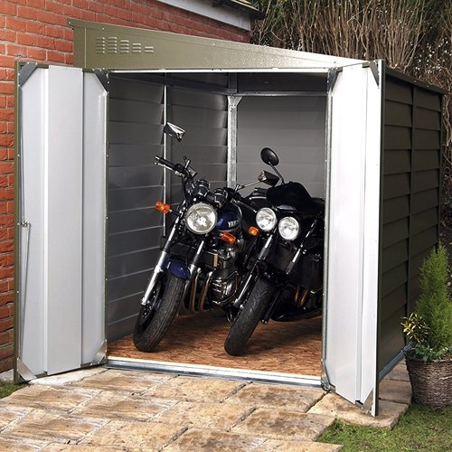 Rowlinson 6 ft. W x 9 ft. D Metal Lean-To Garage Shed