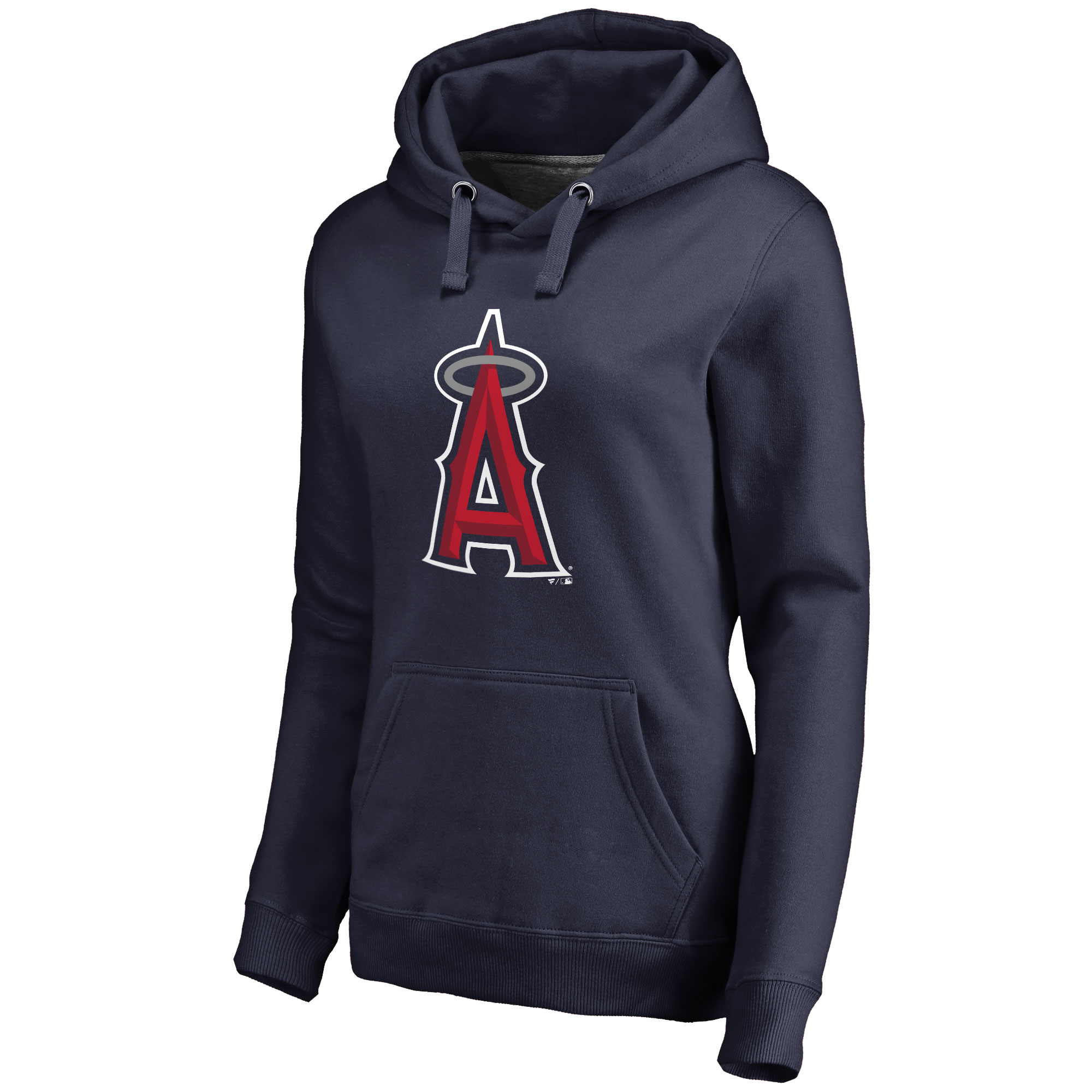 Los Angeles Angels Women's Secondary Color Primary Logo Pullover Hoodie - Navy