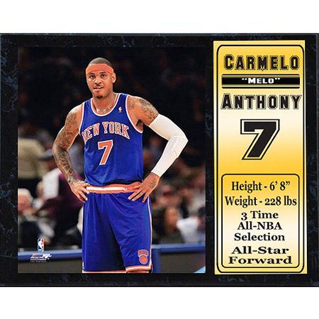 Nba Carmelo Anthony Stat Plaque  12X15
