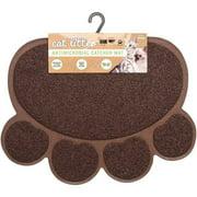 Nandog, Cat Litter Mat, Paw Shape, Dark Brown
