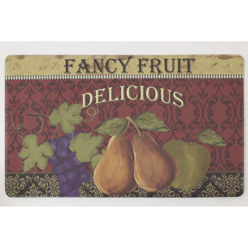 "Chef Gear Fancy Fruit Anti-Fatigue Gelness Comfort 18"" x 30"" Chef Mat"