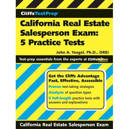 CliffsTestPrep California Real Estate Salesperson Exam: 5 Practice (Deeds For California Real Estate By Mary Randolph)