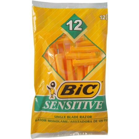 Bic Disposable Shaver (2 Pack - BIC Sensitive Shaver Disposable Razor 12 ea)