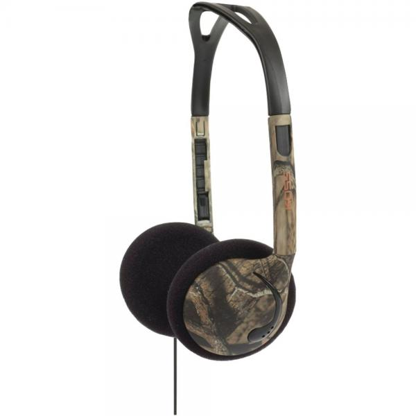 Koss KMO 15g Over-The-Head On-Ear Mossy Oak Headphones (Green) by Koss