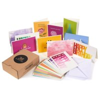 36-Pack Greeting Cards Assortment Box Set, 36 Designs, Includes Thank You, Birthday, Sympathy, Get Well, Envelopes Included, 4x6
