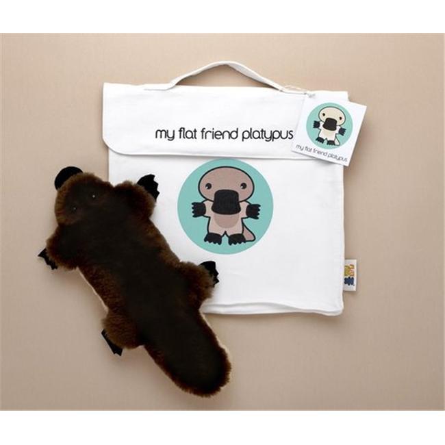 Flat Friends PLATLC Platypus Soft Plush Toy And Carry Bag