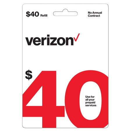 Verizon Wireless $40 Prepaid Refill Card (Email
