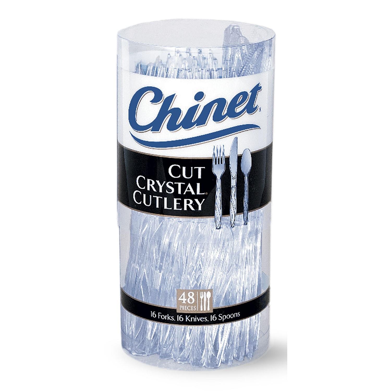 Chinet Cut Crystal Mixed Cutlery 48 Ct Pack Walmart Com
