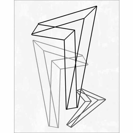 - Geometric Triangle Line Drawing Modern Contemporary Trendy Abstract Black & White Canvas Art by Pied Piper Creative