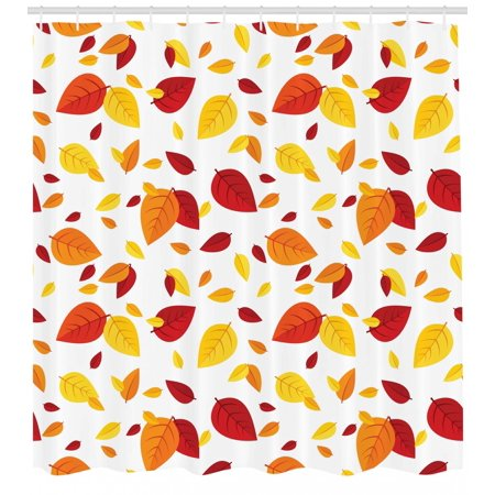 Fall leaves modern. Leaf shower curtain colorful