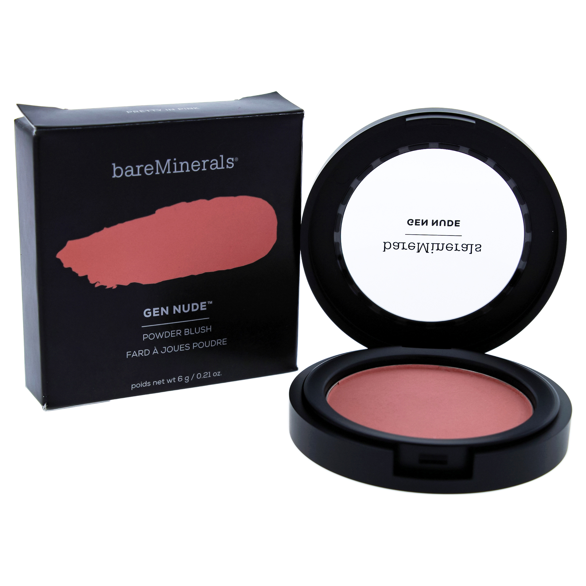 Gen Nude Powder Blush - Pretty In Pink by bareMinerals for Women - 0.21 oz Blush