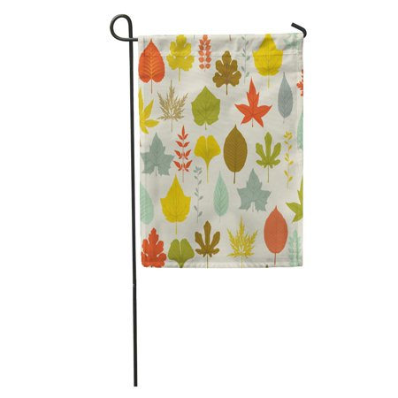 JSDART Autumn Leaves Pattern Colorful Fall on Neutral Including Maple Oak Garden Flag Decorative Flag House Banner 12x18 inch - image 2 of 2