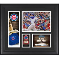 """Kris Bryant Chicago Cubs Framed 15"""" x 17"""" Player Collage with a Piece of Game-Used Ball"""