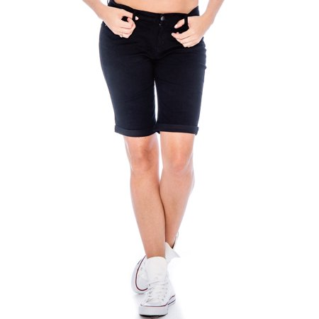 Women's Stretch Bermuda Long Walking Shorts 9 Crowns