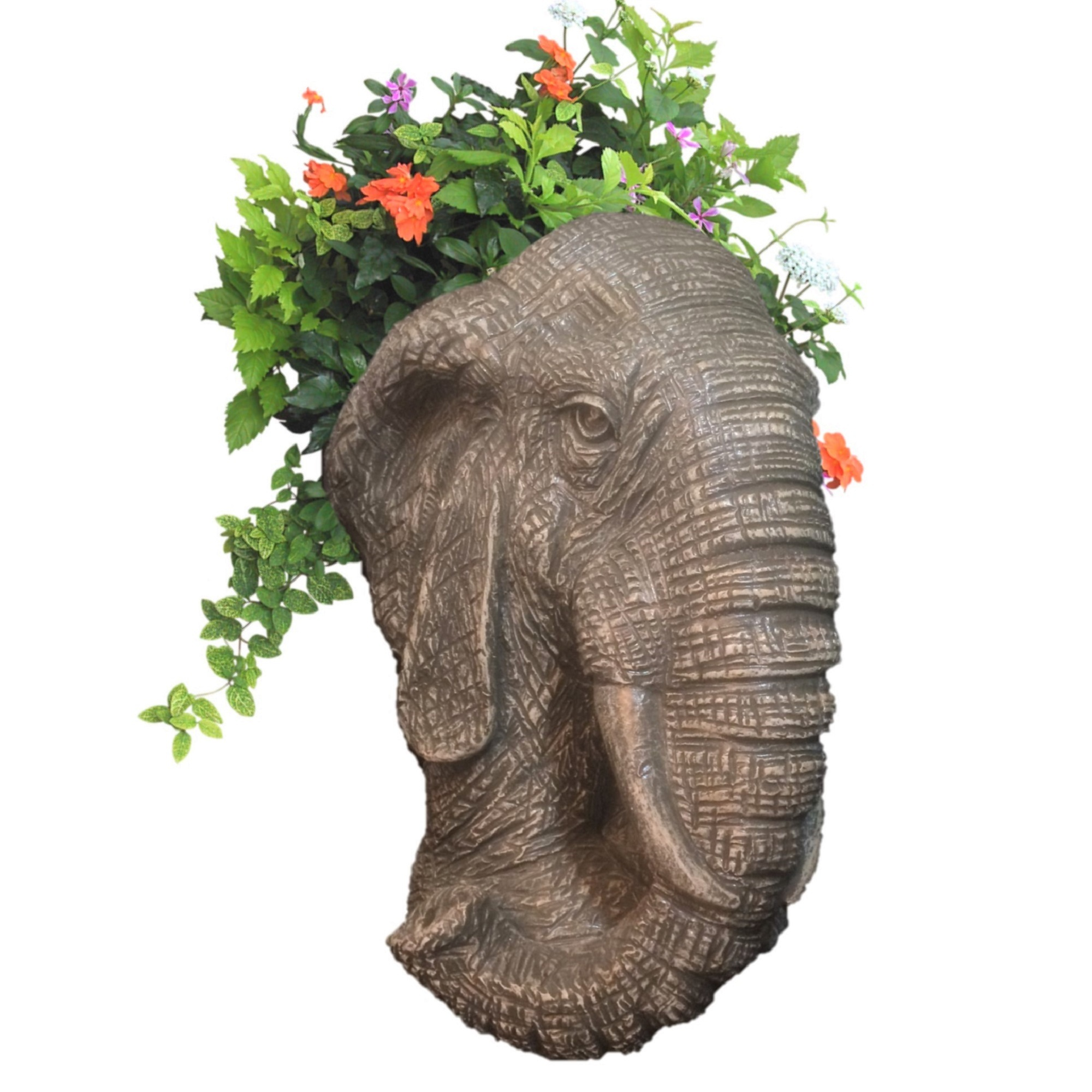 Homestyles Graystone Elephant Muggly Mascot Animal Statue Planter Pot