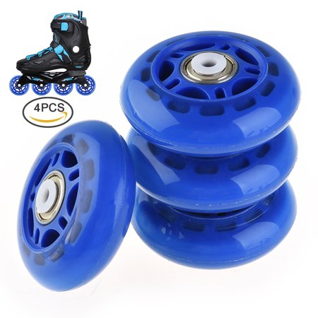 RUNACC Practical Roller Skate Wheels Premium Rollerblade Wheels Durable Skate Wheel Set, Suitable for Rollerblade and Roller Skate, Set of 4, Dark Blue (Skate Wheels Set)