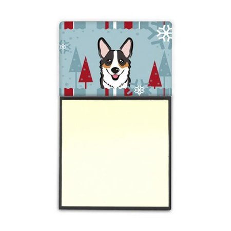 Winter Holiday Tricolor Corgi Sticky Note Holder - image 1 of 1