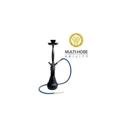 "VAPOR HOOKAHS KARMA 28"" MODERN COMPLETE HOOKAH SET: Single Hose shisha pipe with 4 Hose Multi Hose ability and auto seal system. Karma narguile pipes use new air flow technology (Black Hookah)](hookah black friday deals)"