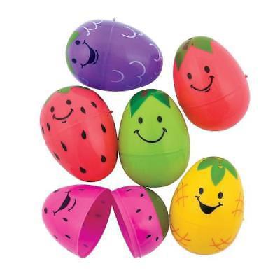IN-13722909 Bright Fruit Plastic Easter Eggs - Easter Fruit
