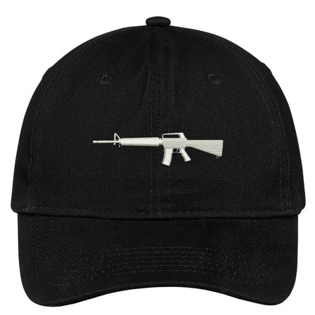 Trendy Apparel Shop Assault Weapon Embroidered Low Profile Soft Cotton Brushed Cap
