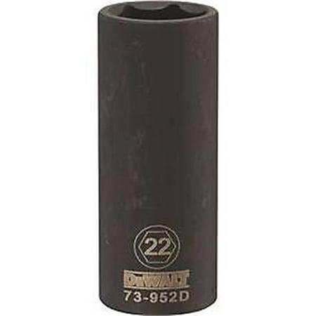 STANLEY CONSUMER TOOLS 6PT 1/2' Drive Deep Metric Impact Socket 22MM DWMT73952OSP 2in Drive Metric Impact Socket