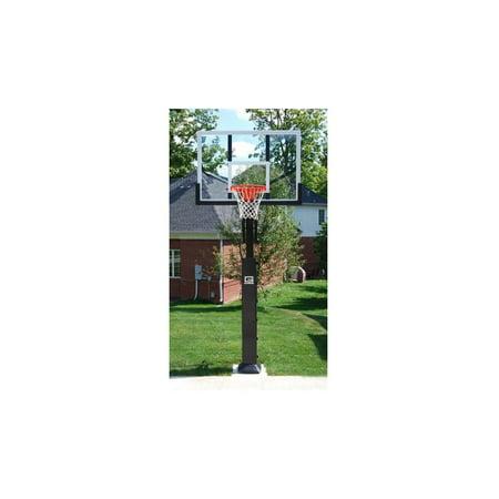 (Collegiate Pro Jam Basketball System with Glass Backboard)
