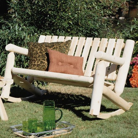 Rustic Natural Cedar Furniture Outdoor / Indoor Cedar Rocking Chair