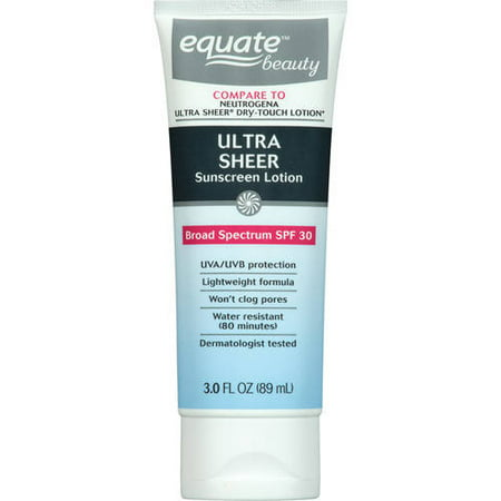 Equate Beauty Ultra Sheer Sunscreen Lotion  Spf 30  3 Fl Oz